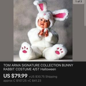 Tom Arma Rabbit costume size 4/5 toddler